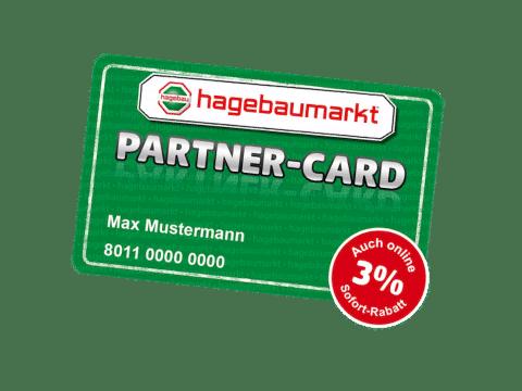 Die grüne hagebau Partner Card